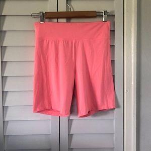 Victoria's Secret Sport Bike Shorts in Coral